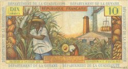 10 Francs ANTILLES FRANÇAISES  1966 P.08b pr.TTB