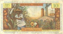 10 Francs type 1962 modifié 1964 ANTILLES FRANÇAISES  1966 P.08b TTB