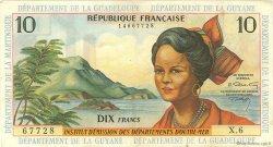 10 Francs type 1962 modifié 1964 ANTILLES FRANÇAISES  1966 P.08b TTB+