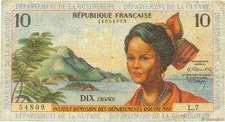 10 Francs type 1962 modifié 1964 ANTILLES FRANÇAISES  1964 P.08b TB