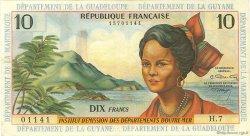 10 Francs ANTILLES FRANÇAISES  1966 P.08b TTB