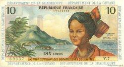 10 Francs type 1962 modifié 1964 ANTILLES FRANÇAISES  1966 P.08b SUP