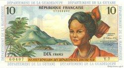 10 Francs type 1962 modifié 1964 ANTILLES FRANÇAISES  1966 P.08b SPL