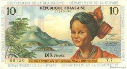 10 Francs type 1962 modifié 1964 ANTILLES FRANÇAISES  1966 P.08b NEUF