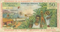50 Francs type 1962 modifié 1964 ANTILLES FRANÇAISES  1964 P.09a B+