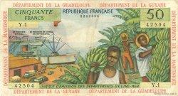 50 Francs ANTILLES FRANÇAISES  1964 P.09a TTB