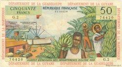 50 Francs type 1962 modifié 1964 ANTILLES FRANÇAISES  1964 P.09a TB