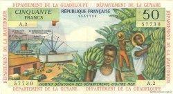 50 Francs type 1962 modifié 1964 ANTILLES FRANÇAISES  1964 P.09a TTB