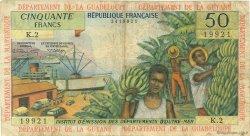 50 Francs ANTILLES FRANÇAISES  1966 P.09b TB