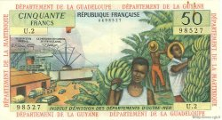 50 Francs type 1962 modifié 1964 ANTILLES FRANÇAISES  1966 P.09b TTB