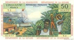 50 Francs type 1962 modifié 1964 ANTILLES FRANÇAISES  1966 P.09b pr.NEUF