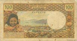 100 Francs type 1968 TAHITI  1969 P.23 B
