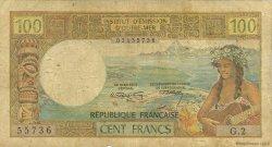 100 Francs type 1968 modifié 1971 TAHITI  1971 P.24a B