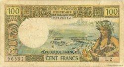 100 Francs type 1968 modifié 1972 TAHITI  1972 P.24b B