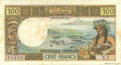 100 Francs type 1968 modifié 1972 TAHITI  1972 P.24b TB+
