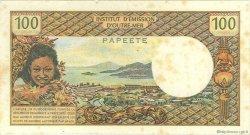 100 Francs TAHITI  1972 P.24b TB+
