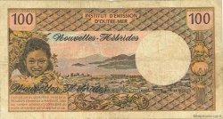 100 Francs type 1968 modifié 1972 NOUVELLES HÉBRIDES  1972 P.18b B+