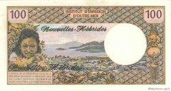 100 Francs type 1968 modifié 1972 NOUVELLES HÉBRIDES  1972 P.18b SUP+