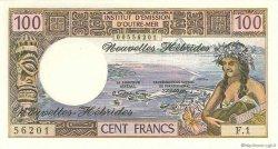 100 Francs type 1968 modifié 1972 NOUVELLES HÉBRIDES  1972 P.18b NEUF