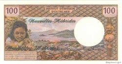 100 Francs type 1968 modifié 1972 NOUVELLES HÉBRIDES  1975 P.18c NEUF