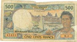 500 Francs type 1969 TAHITI  1982 P.25b2 B