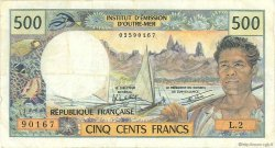 500 Francs TAHITI  1982 P.25b2 TTB