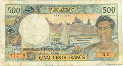 500 Francs type 1969 TAHITI  1985 P.25d B+