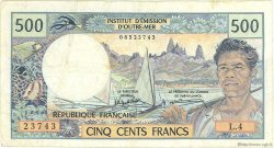 500 Francs TAHITI  1985 P.25d TB