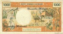 1000 Francs type 1968 modifié 1970 NOUVELLES HÉBRIDES  1970 P.20a TB