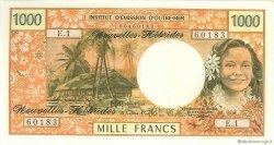 1000 Francs NOUVELLES HÉBRIDES  1970 P.20a NEUF