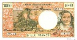 1000 Francs type 1968 modifié 1970 NOUVELLES HÉBRIDES  1980 P.20c NEUF