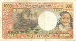 1000 Francs type 1968 modifié 1971 TAHITI  1985 P.27d TB