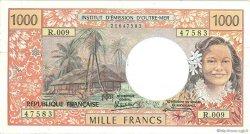 1000 Francs type 1968 modifié 1971 TAHITI  1988 P.27d TTB+