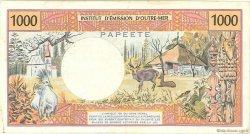 1000 Francs type 1968 modifié 1971 TAHITI  1988 P.27d TB
