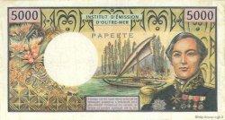 5000 Francs type 1970 TAHITI  1985 P.028d TB+
