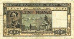 100 Francs BELGIQUE  1946 P.126 TB à TTB