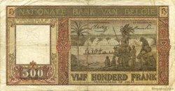 500 Francs BELGIQUE  1945 P.127 TB+