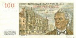100 Francs BELGIQUE  1955 P.129b SUP