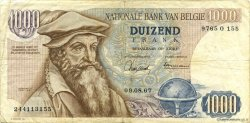 1000 Francs BELGIQUE  1967 P.136a TB+