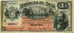 1 Peso CHILI  1893 P.011b TTB