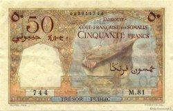 50 Francs DJIBOUTI  1952 P.25 SUP+