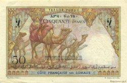 50 Francs DJIBOUTI  1952 P.25s SUP