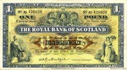 1 Pound ÉCOSSE  1958 P.324b TTB à SUP