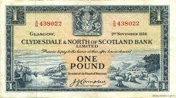 1 Pound ÉCOSSE  1956 P.191a TTB+