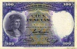 100 Pesetas ESPAGNE  1931 P.083 TTB