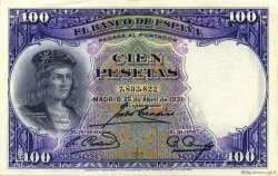 100 Pesetas ESPAGNE  1931 P.083 SPL