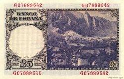 25 Pesetas ESPAGNE  1946 P.130a