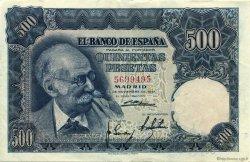 500 Pesetas ESPAGNE  1951 P.142a SUP+
