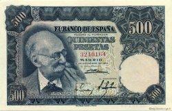 500 Pesetas ESPAGNE  1951 P.142a pr.NEUF