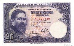 25 Pesetas ESPAGNE  1954 P.147a NEUF